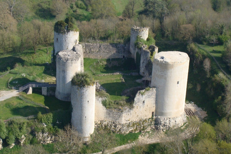 Vue aerienne - Chateau Coudray Salbart