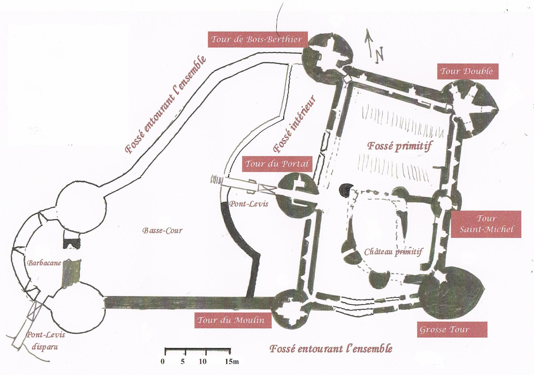 Plan -  Chateau Coudray Salbart